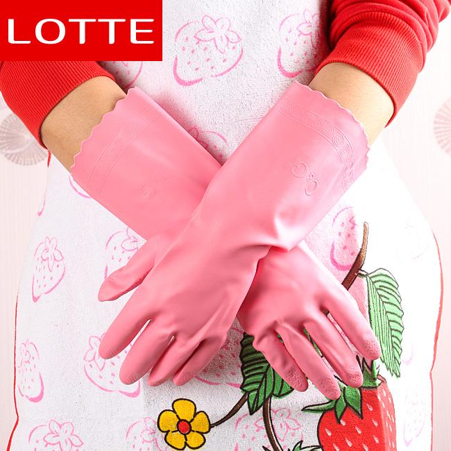 롯데 이라이프 주방장갑(핑크) (M) (33x13.5cm)