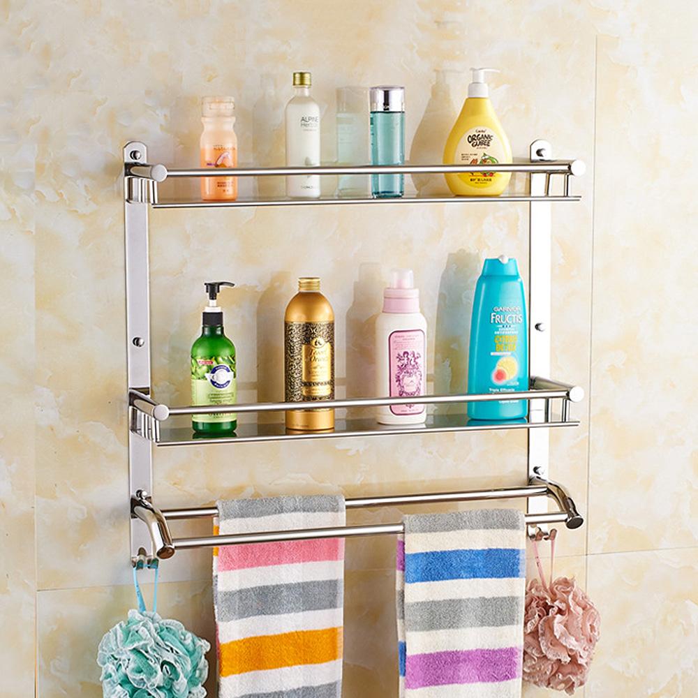 홈드림 2단 더블 수건걸이 욕실선반(50x56cm)