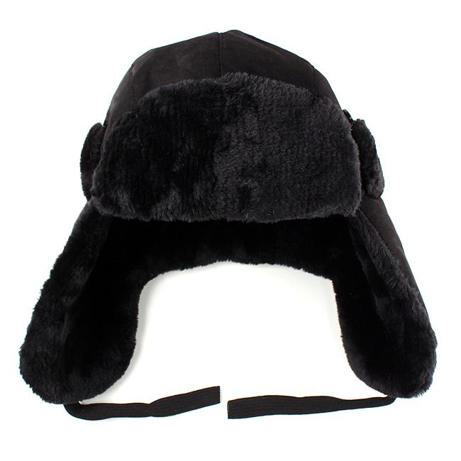 따스한 군밤 방한 모자(블랙) (남성용)